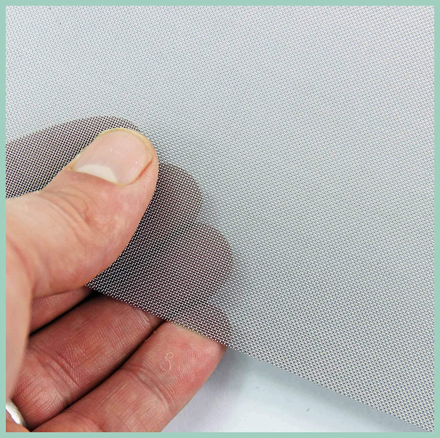 - Stainless Steel Woven Mesh by THE MESH COMPANY 200 Holes Per Linear Inch Very Fine 300 x 300mm Sheet #200 x 0.05mm
