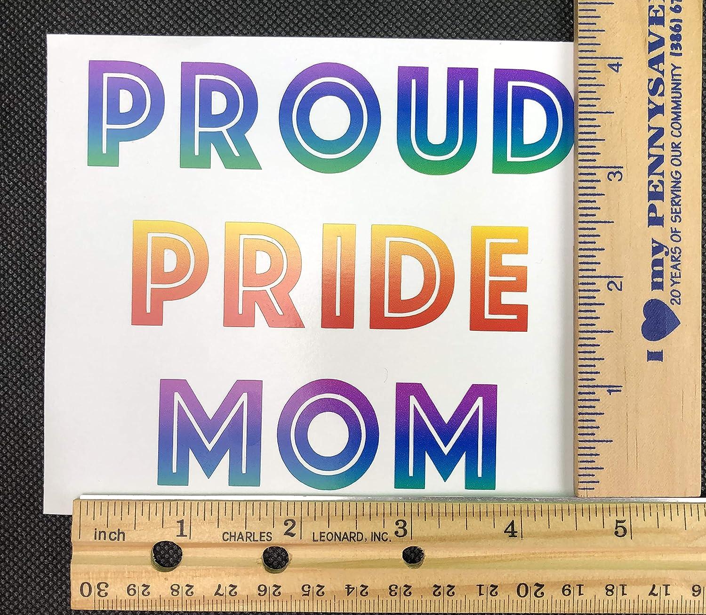 New Vinyl Decal Gift Proud Pride Mom Rainbow Car