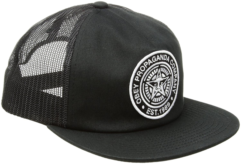 Obey Mens Established 89 Trucker Ii 5 Panel Hat Baseball Cap - Black -   Amazon.co.uk  Clothing 96f6861267e