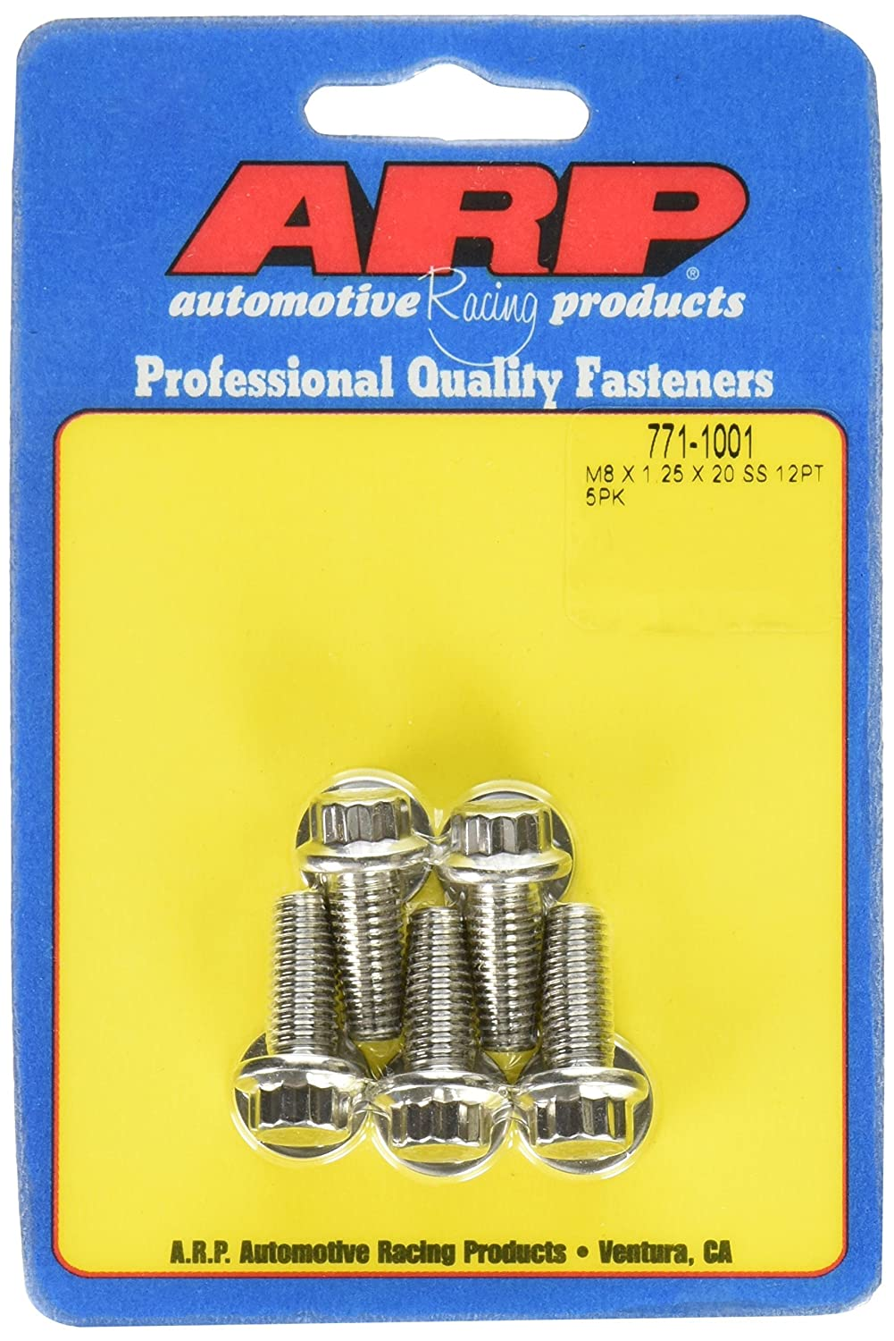 ARP 771-1001 ('8mm x 1.25' x 20') 12-Point Stainless Steel Bolt Kit - 5 Piece