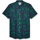 Goodthreads Men's Standard-Fit Short-Sleeve Printed Poplin Shirt