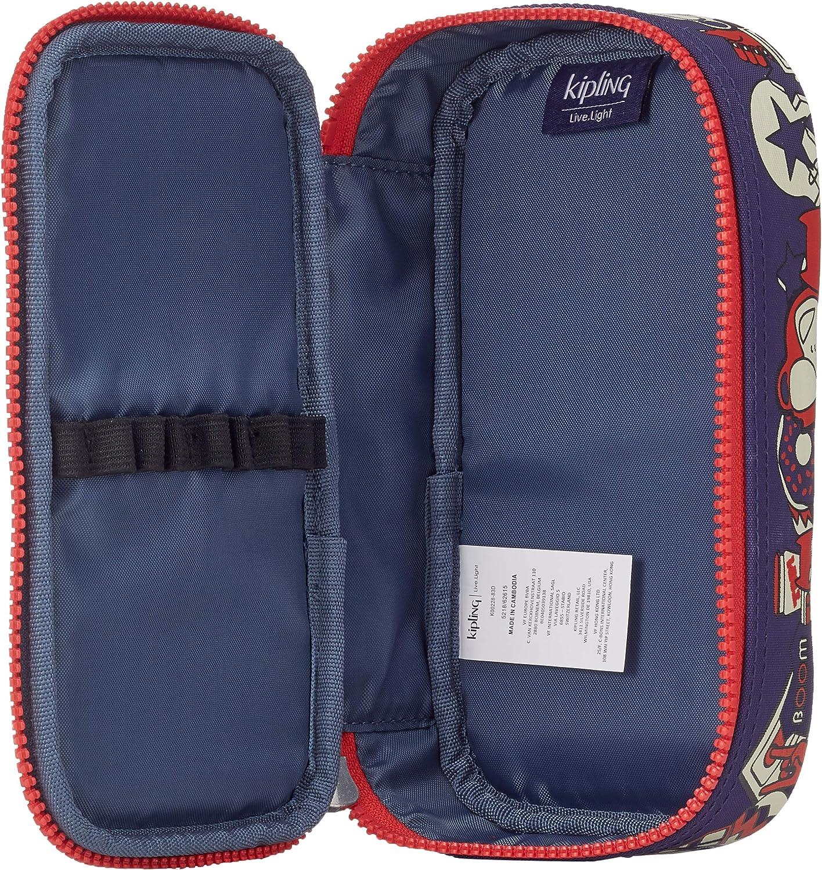 Kipling 50 PENS Plus Estuches, 21 cm, 1 Liters, Azul (Polish Blue Fun): Amazon.es: Equipaje