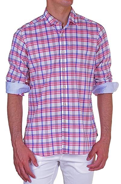 san francisco aa799 4751f Agho - Camicia Uomo Regular multicolor S: Amazon.it ...
