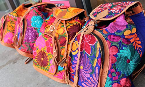 Amazon.com: Boho Backpack - Mexican Suede Embroidered Backpack - Hippie Backpack - Mochilas de mujer de moda - Dark Purple: Handmade