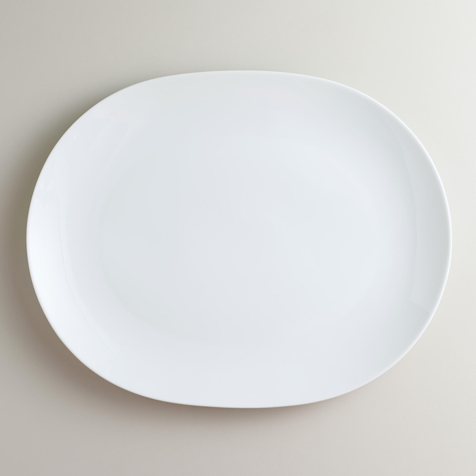 White Coupe Oval Platter | World Market