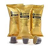 Yespresso 50 Capsule Compatibili con Macchine Nespresso, NAPOLI