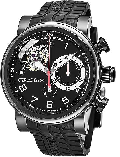 Graham Tourbillograph Trackmaster - Reloj de pulsera para hombre, cronógrafo automático, diseño de turbillón