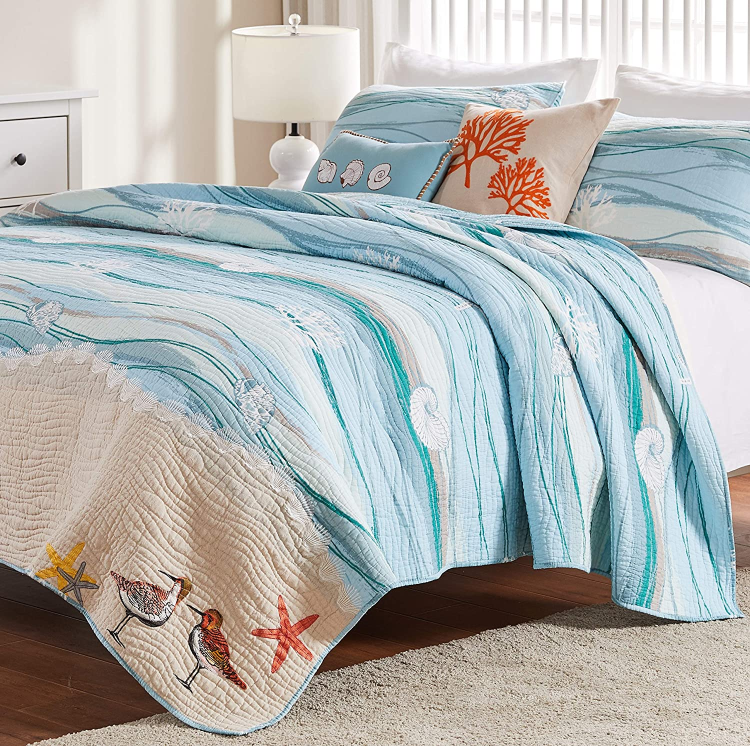 Greenland Home Maui Bonus Quilt Set 4-Piece Twin