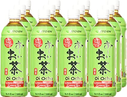 Ito En Oi Ocha Green Tea, Unsweetened, 16.9 Fluid Ounce Pack of 12