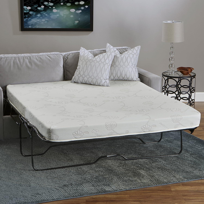 Colchón para sofá Cama de Espuma viscoelástica, InnerSpace, Poliuretano, Blanco, 52 x 72: Amazon.es: Hogar
