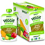 Sprout Organic Baby Food, Stage 4 Toddler Pouches, Green Veggie Power Pack, 4 Oz, Pack of 12