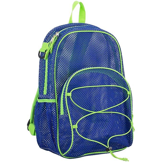 Eastsport Mesh Bungee Backpack, Indigo One Size