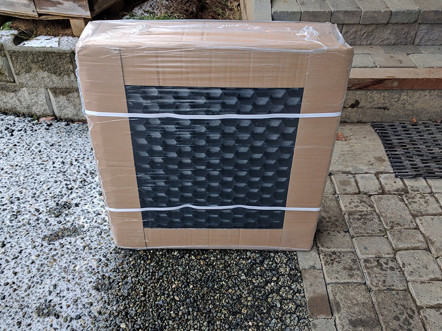 CORE Drive-Gravel Stabilizer Grids With Attached Weed Control Membrane. Perfect For Homeowner Driveways&Parking Areas. Each Pack will cover a total area of 33 sq.ft