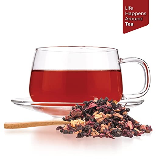 Tealyra - Grandma's Garden Berry - Fruit Tea Blend - Hibiscus and Berries Based Herbal Loose Leaf Tea - Vitamines Rich - Caffeine-Free - Hot and Iced.