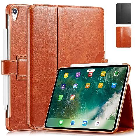 55b6a708e577e7 KAVAJ iPad Pro 11 quot  Case Leather Cover London Cognac-Brown for Apple  iPad Pro