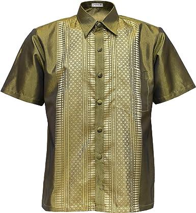 Camisa de manga corta Señor Golden – Camisa para hombre Dorado large: Amazon.es: Ropa y accesorios