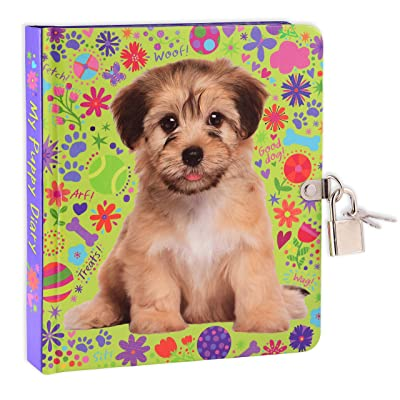 MOLLYBEE KIDS My Puppy Lock and Key Diary for Kids: Toys & Games