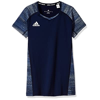 adidas Girl's Volleyball Quickset Cap Sleeve Jersey