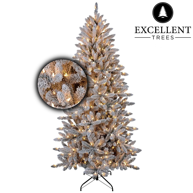 Excellent Trees Weihnachtsbaum LED Visby 210 cm mit Beleuchtung - Luxusedition - 360 Lämpchen