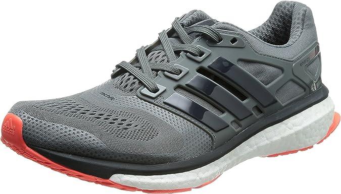 adidas Performance Energy Boost ESM Hombre Zapatillas de Deporte, Hombre, B44285, Gris/Rojo, 44 2/3 EU: Amazon.es: Deportes y aire libre