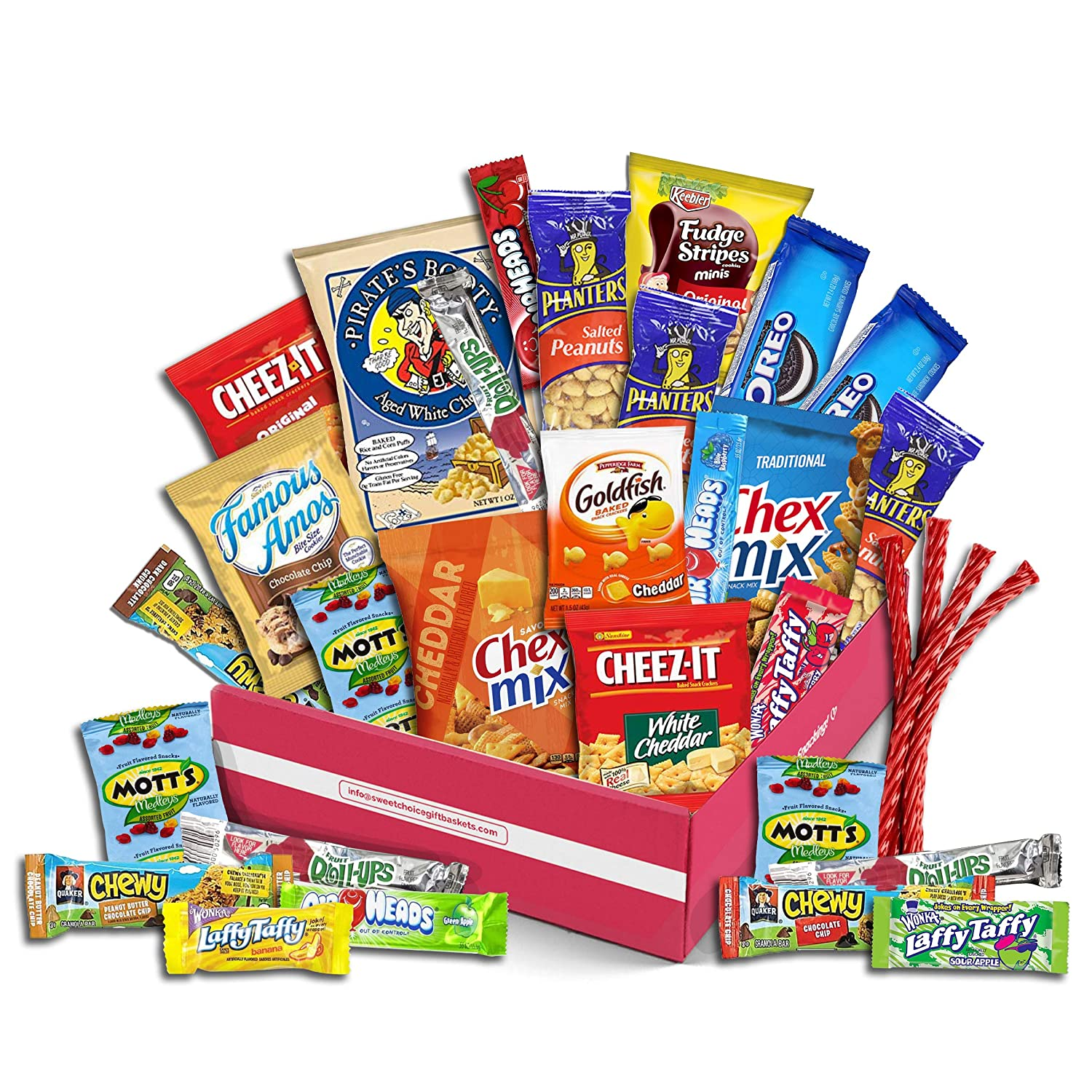 Snack Box Variety Pack, (30 Count) - College Student Care Package, Thanksgiving, Xmas Food Arrangement Chips, Cookies, Bars - Birthday Treats for Adults, Kids