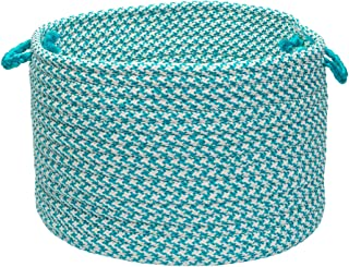 product image for Colonial Mills Indoor/Outdoor Houndstooth Storage Basket, Turquoise