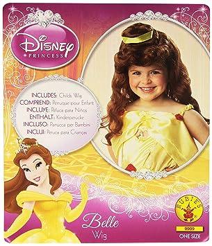 Disney - Peluca de la princesa Disney Bella de la Bella y la Bestia