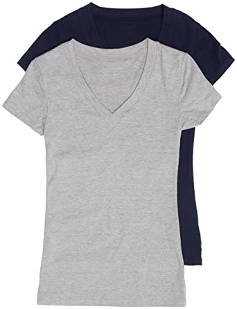 45fae96a0 Image Unavailable. Image not available for. Color: 2 Pack Zenana Basic Plus  Size V-Neck Short Sleeve Cotton ...