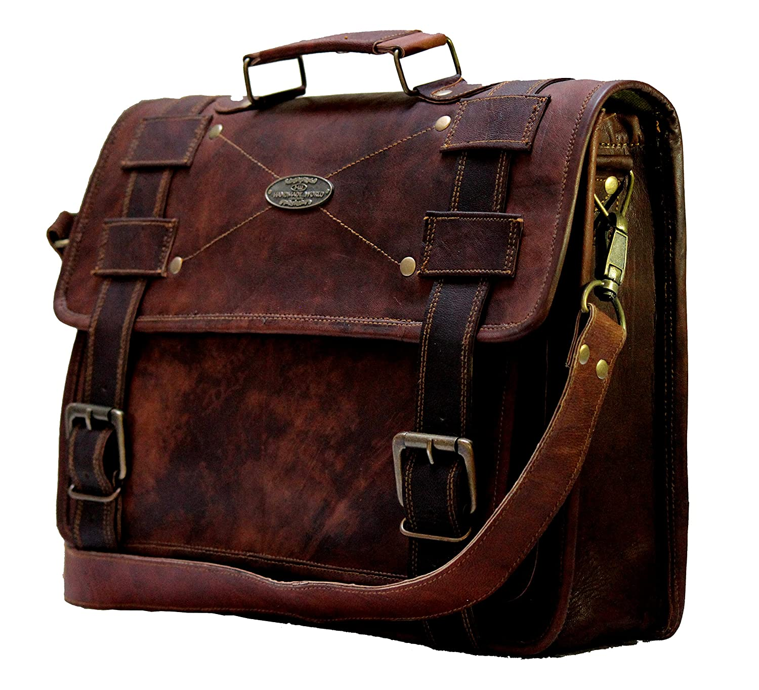 c3c9211eccb7 Handmade World Leather Messenger Bags 15.6 for Men Women Mens Laptop  Computer Bag Best Shoulder Satchel School Distressed Briefcase Unisex Cross  Body ...