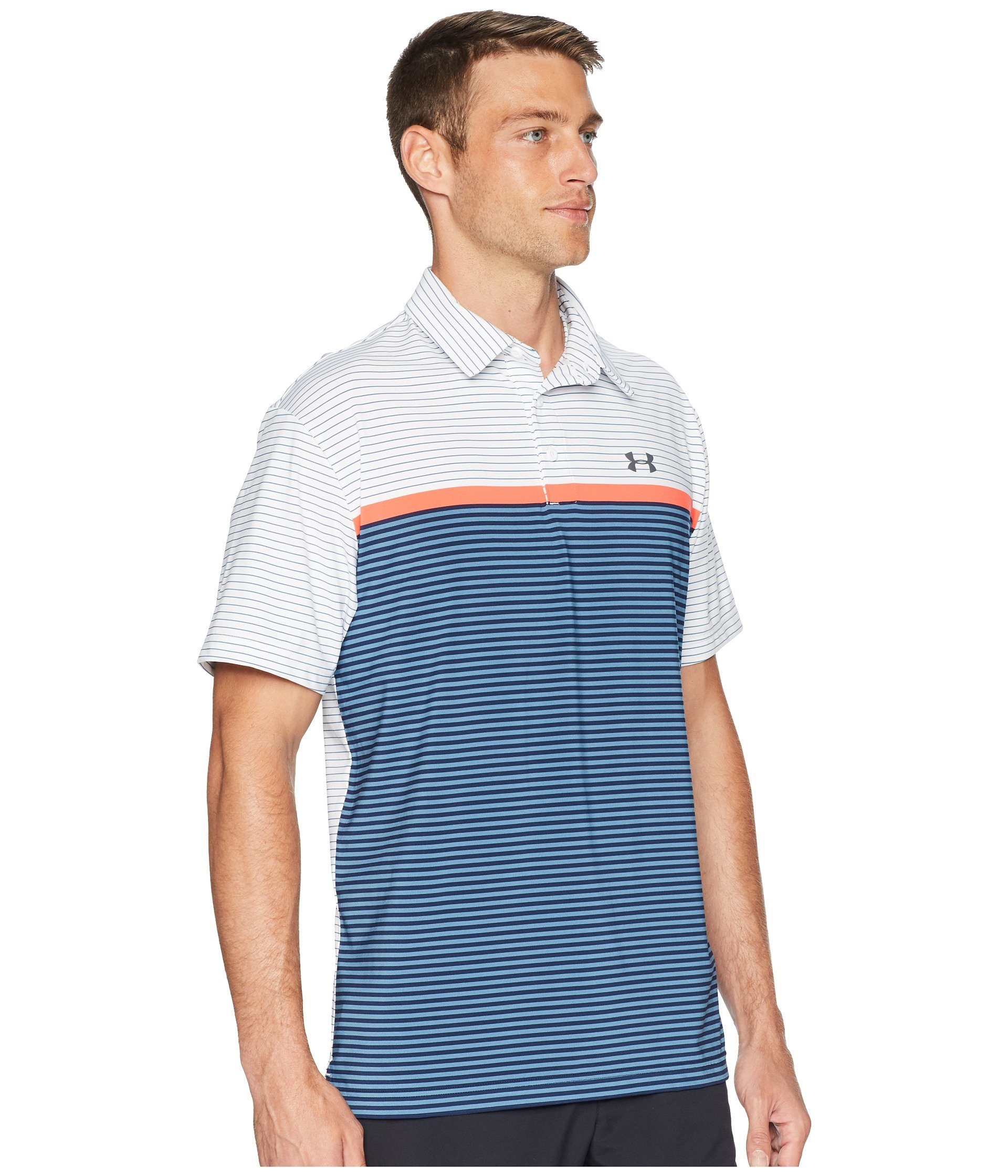 Under Armour Men's Playoff Polo, White (124)/Rhino Gray, X-Small by Under Armour (Image #5)