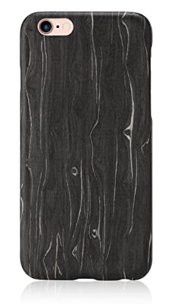new product 4f501 2a111 PITAKA Wood Case Compatible with iPhone 6 Plus/6s Plus(5.5 Inch),  [Aramidcore Wood Series] Genunine Slim Natural Wooden Phone Case - Black  Ice Wood ...