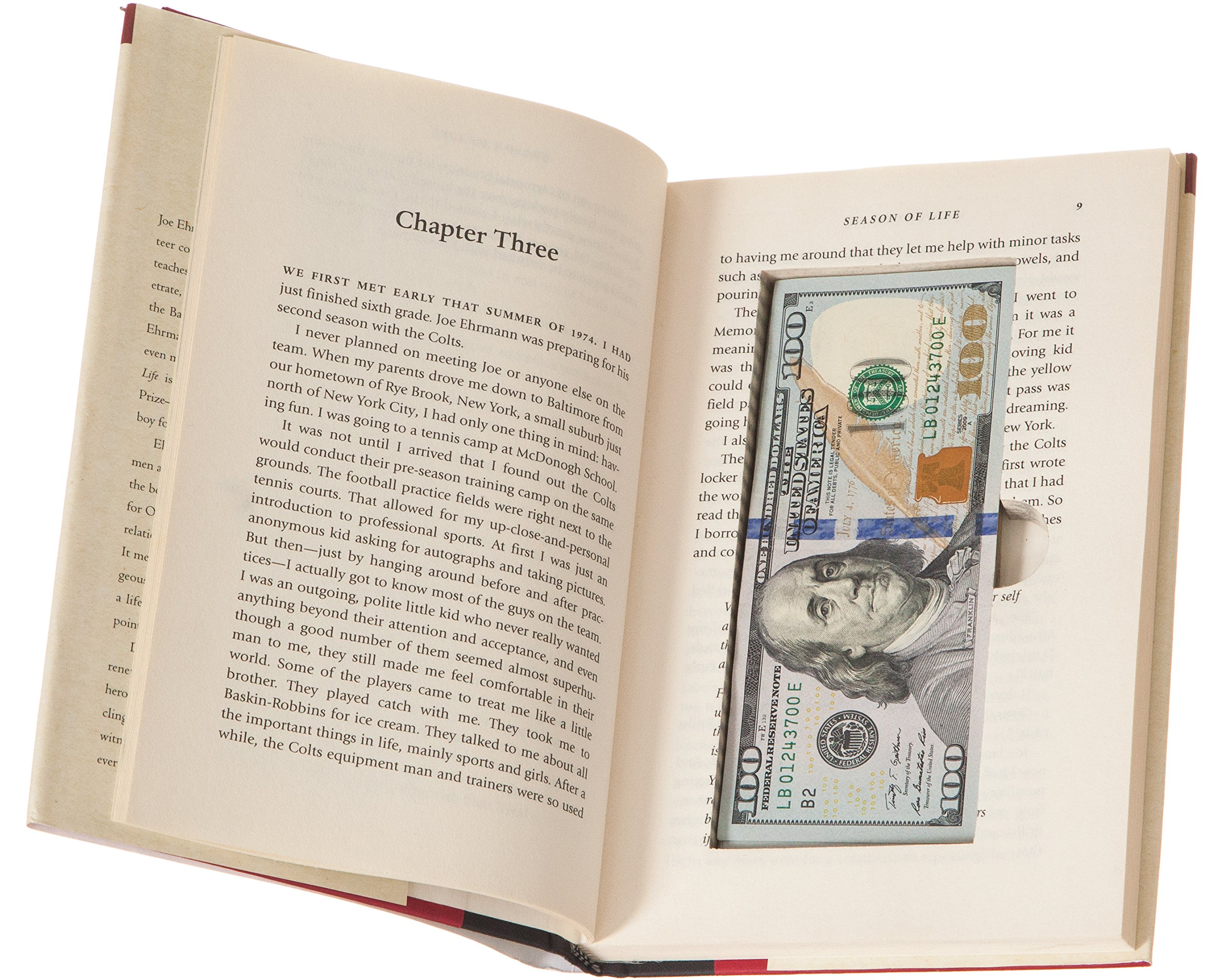 BookRooks Recycled Hollow Book Cash Box with Magnetic Closure (2 Pack)