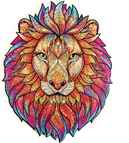 Amazon.com: Unidragon Wooden Jigsaw Puzzles - Unique Shape Jigsaw Pieces  Best Gift for Adults and Kids Mysterious Lion 9.7 x 12.5 inches, 192  pieces, Medium: Toys & Games