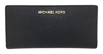 bb9ece2a7a7c Image Unavailable. Image not available for. Color: Michael Kors Jet Set  Travel Leather Medium Large Card Case Carryall ...