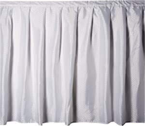 Carnation Home Fashions Lauren Dobby Fabric Sink Skirt, 56-Inch by 32-Inch, White