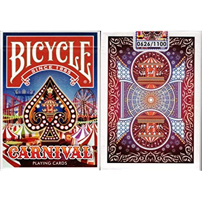 Carnival Bicycle Playing Cards Poker Size Deck USPCC Custom Limited: Toys & Games