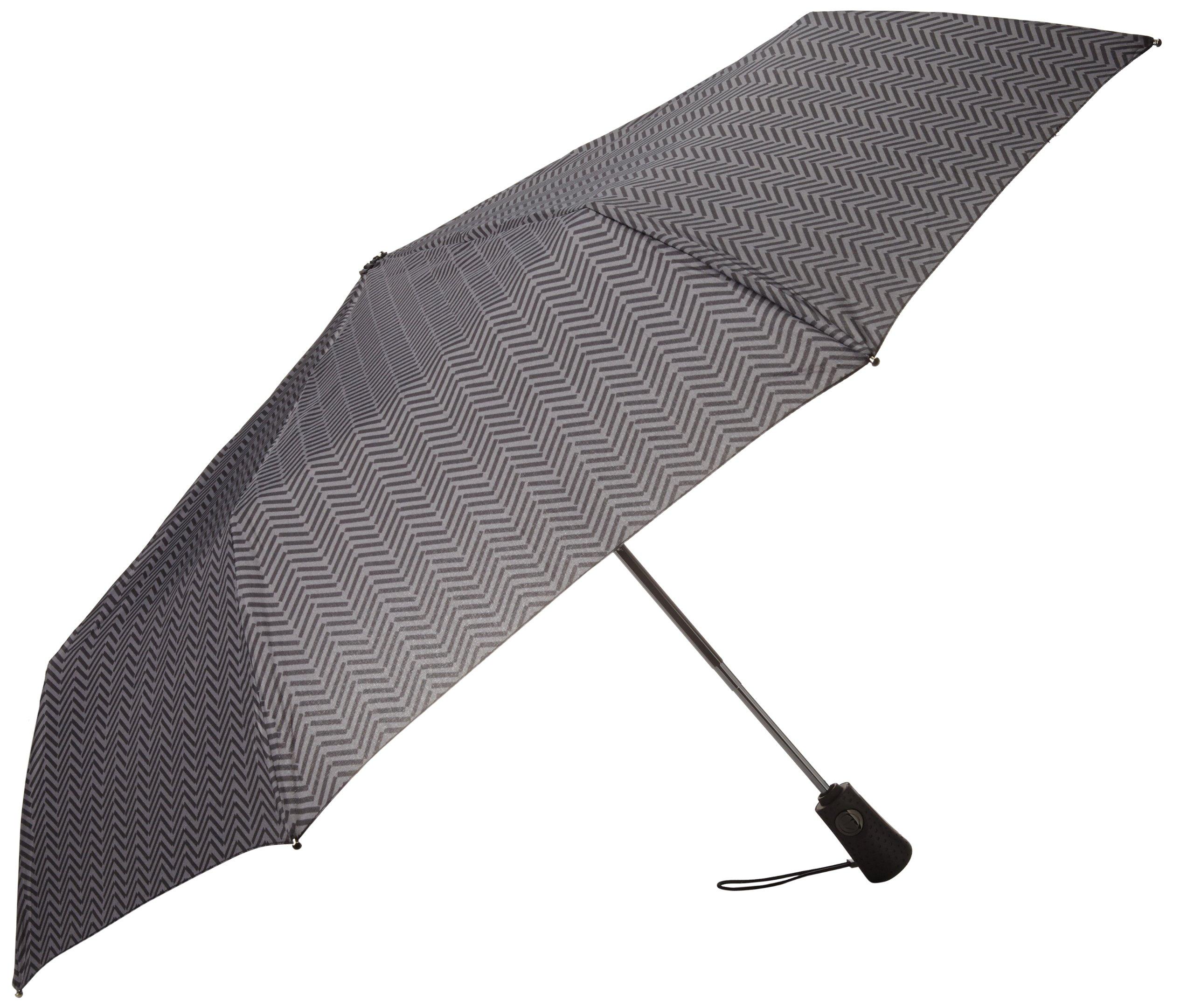 Totes Titan Compact Travel Umbrella, Windproof, Waterproof, Auto Open/Close
