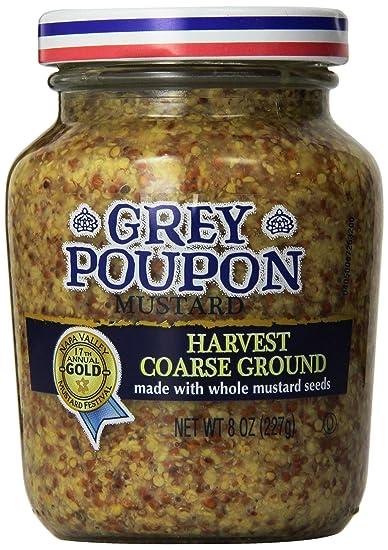 amazon com grey poupon harvest coarse ground mustard 8 ounce