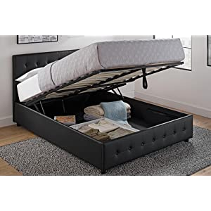 DHP Cambridge Upholstered Faux Leather Platform Bed