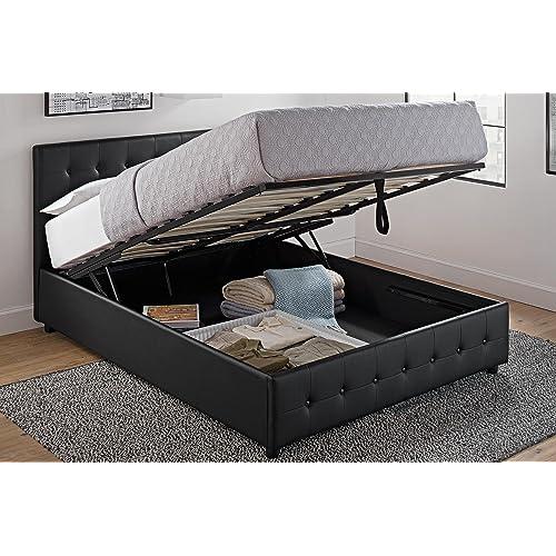 full size storage beds. Black Bedroom Furniture Sets. Home Design Ideas