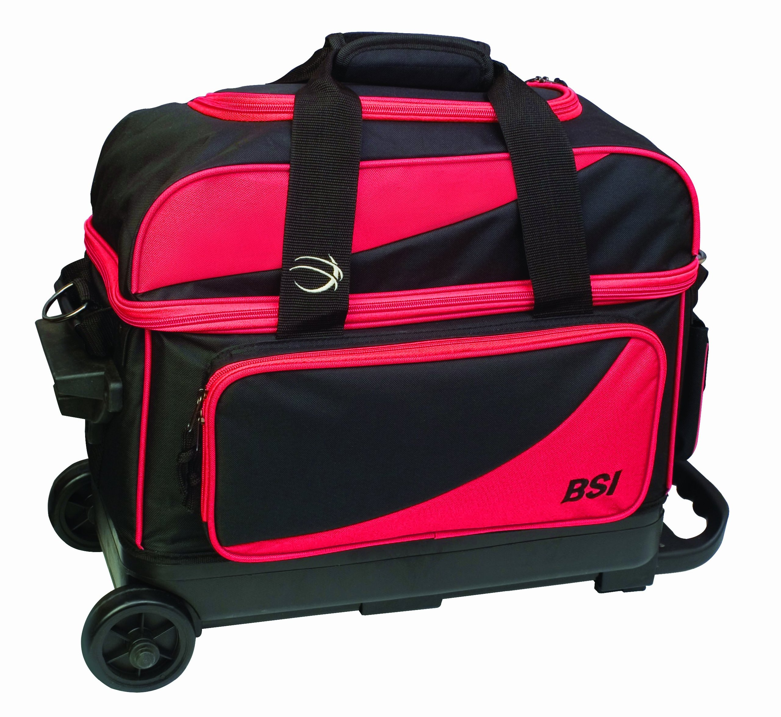 BSI Double Ball Roller Bowling Bag, Black/Red