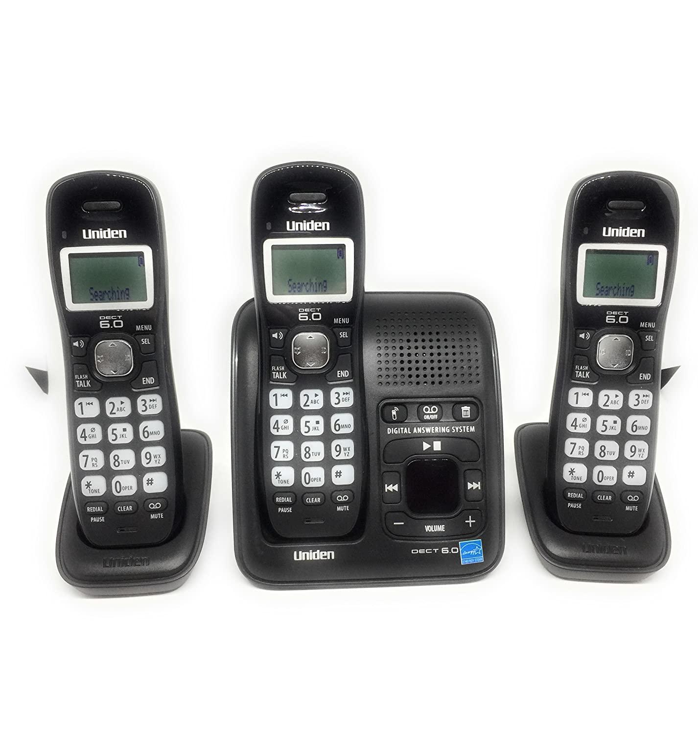 Amazon.com : Uniden DECT 6.0 Digital Cordless Phone with Caller ID and Two  Extra Handsets (DECT1484-3) : Electronics