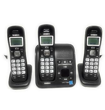 amazon com uniden dect 6 0 digital cordless phone with caller id rh amazon com