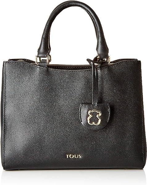 8399d4eb3 Tous City S. Odalis Negro, Bolso bandolera para Mujer, 21.5x27x12.5 cm (W x  H x L)
