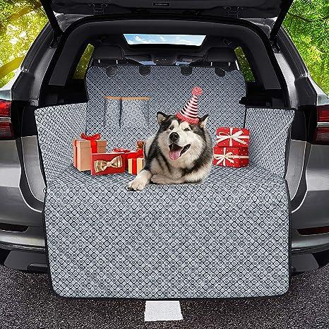 Omorc Autoteppich Für Hunde Kofferraumschutz Catione Stoff Aus 100 Wasserdicht Rutschfest Universell Einsetzbar Haustier