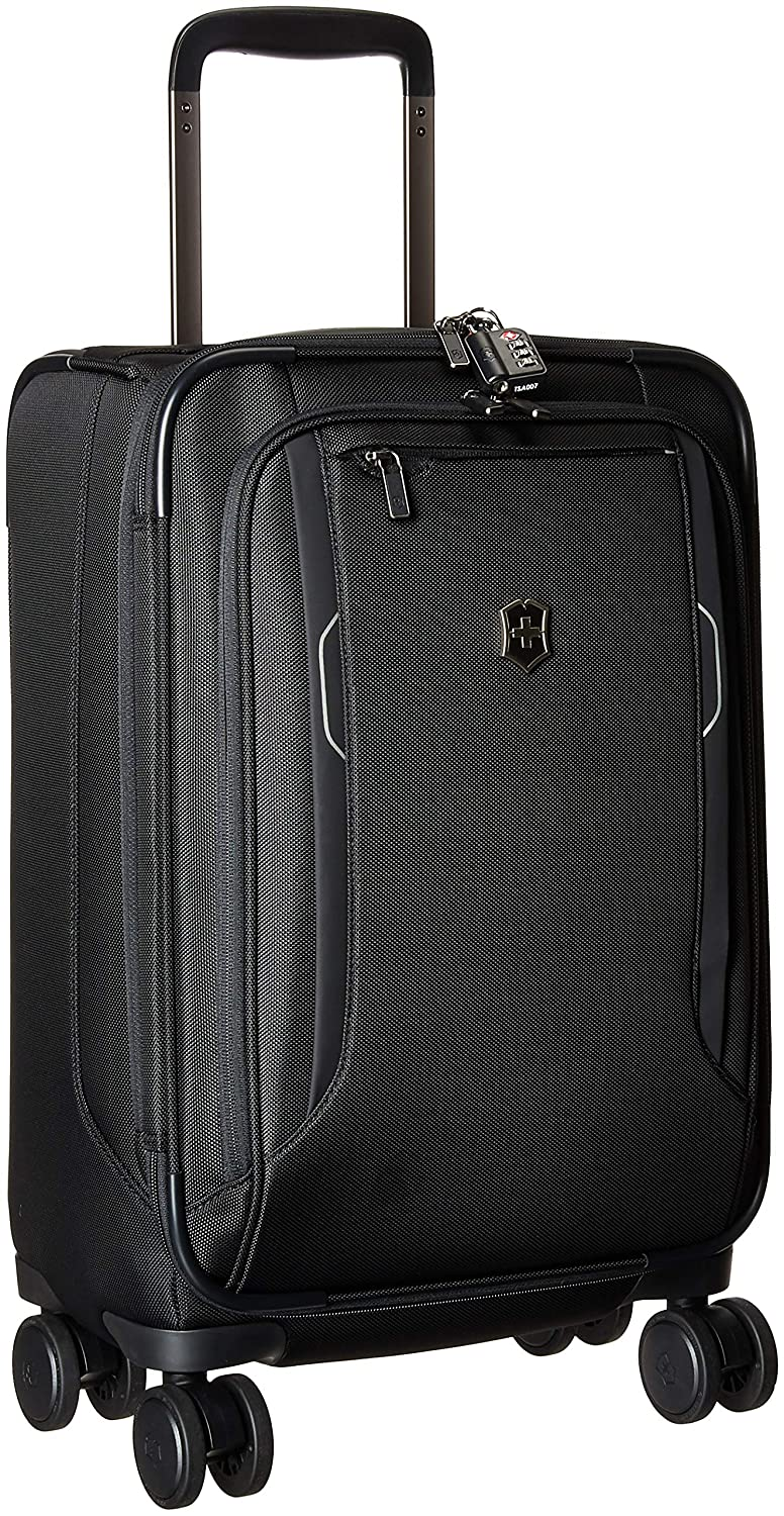 daeb0bbe4 Amazon.com | Victorinox Werks Traveler 6.0 Frequent Flyer Softside Carry-On  Spinner Suitcase, 21-Inch, Black | Carry-Ons