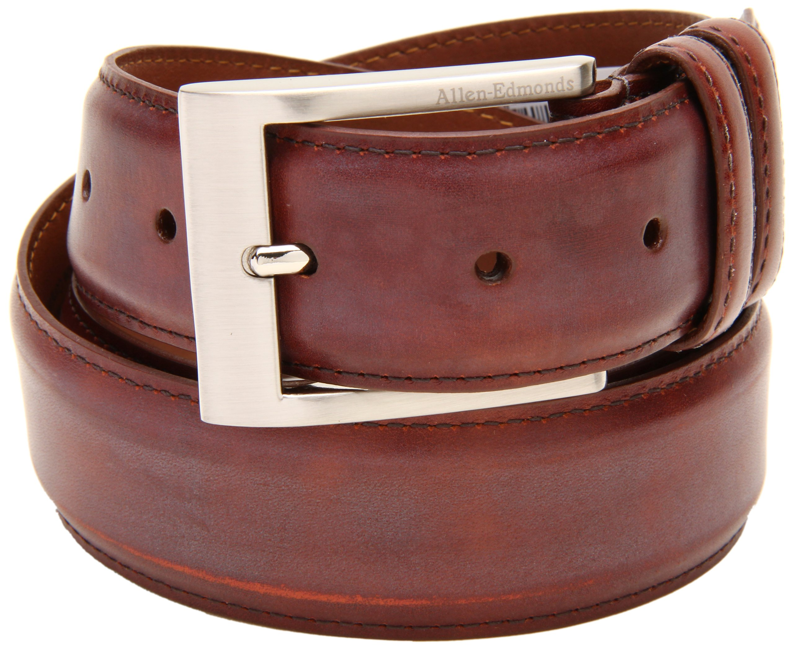 Allen Edmonds Men's Basic Wide Dress Belt, Chili, 36
