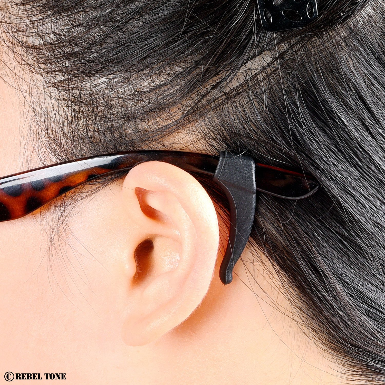 2x Brown with Diamond Shield Cloth and Pack Rebel Tone 2x black Prevents Your Glasses from Slipping Off 8 Pair 2x transparent white 1x Orange Perfect Fit 1x yellow Eyeglass Ear Grip Hooks