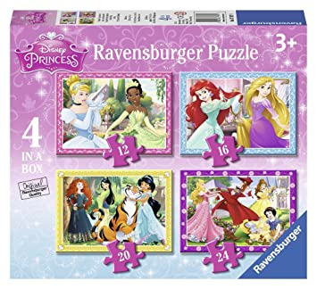 19a31f2af5fc Ravensburger Disney Princess 4 in a box (12, 16, 20, 24pc) Jigsaw Puzzles