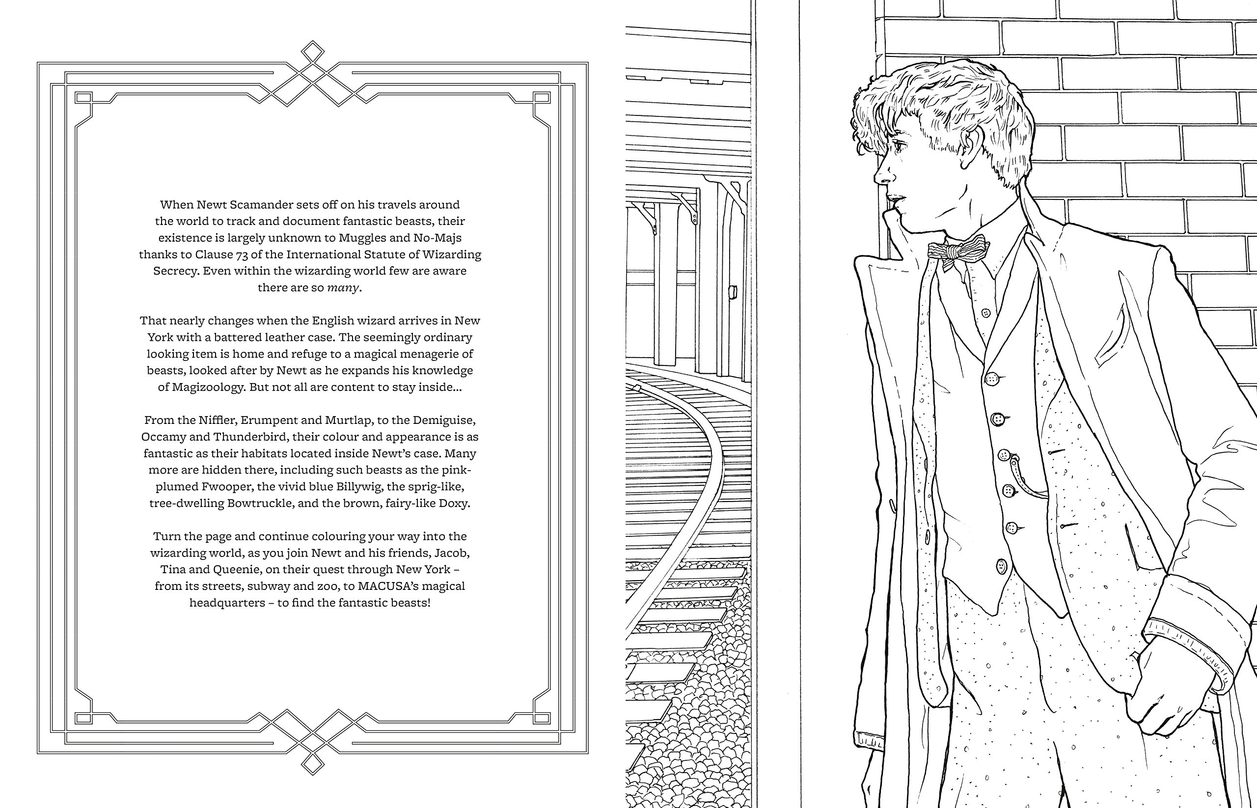10 Fantastic Beasts Coloring Pages Free | Top Free ...